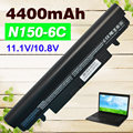 4400mAH laptop Battery For Samsung N100 N143 N145P N148 N150 N250 N260 AA-PB2VC3B AA-PB2VC3W AA-PB2VC6B AA-PL2VC6B AA-PL2VC6W