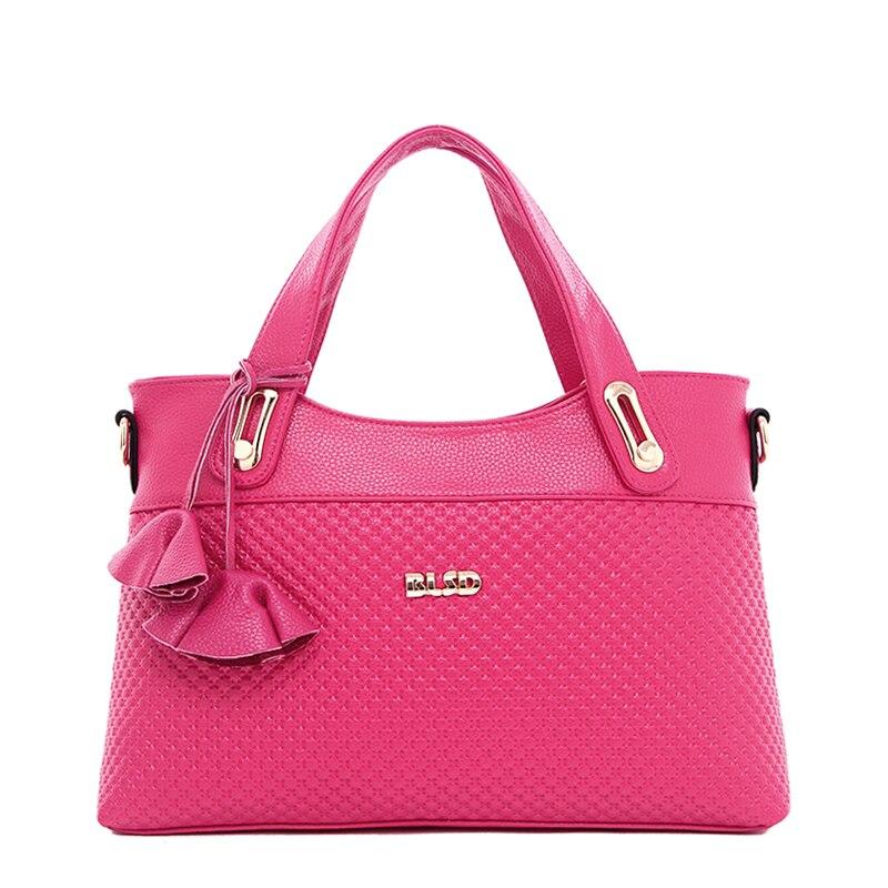 ФОТО Women's Saffiano Handbags Hot Sale High Quality Lolita Style Floral Pattern Handbag&Crossbody Bag bolsa feminina Hot Pink ST9225