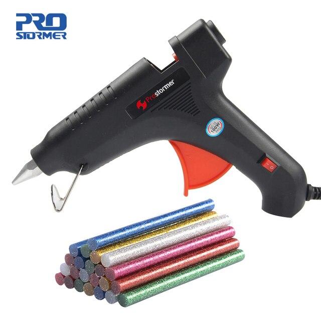 Prostormer 100W  Hot Melt Glue Gun EU plug Professional Hot Melt Glue Gun Heating Craft Repair Tool pistolet a colle 11 mm