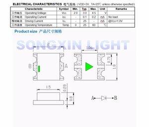 Image 3 - 1000 diodo colorido 0805*2.0*1.8mm do rgb dos pces 0.8 rgb cintilação multicolorido 0807 diodo led smd piscando rápido lento piscando com ic