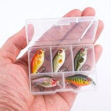 SEALURER Mini Crankbaits 3.5cm 2g Floating Wobbler Fishing Minnow Lures Plastic ABS Hard Baits Swimbaits 5pcs/Lot