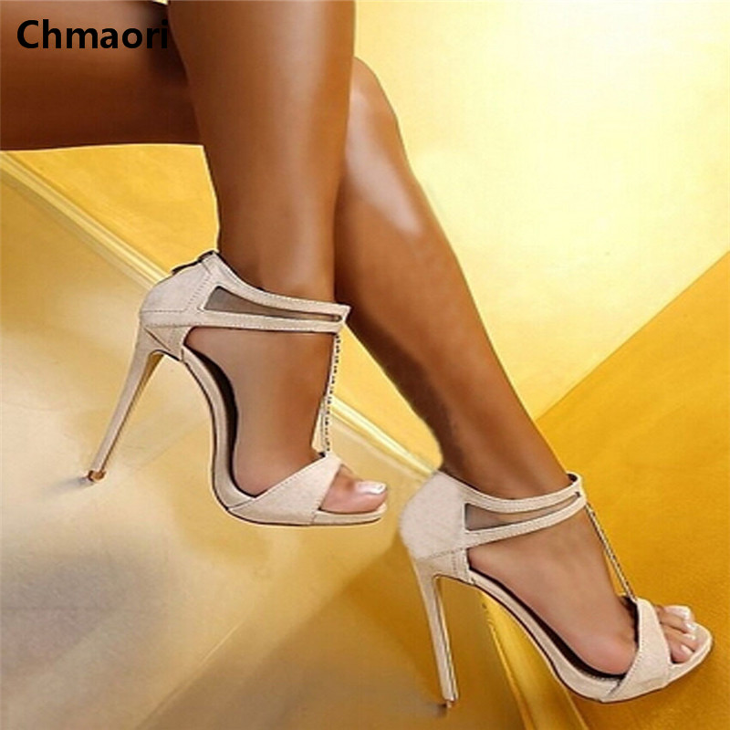 Promotion woman summer sandals T-strap high heel gladiator sandals fashion opening high heel sexy women dress shoes