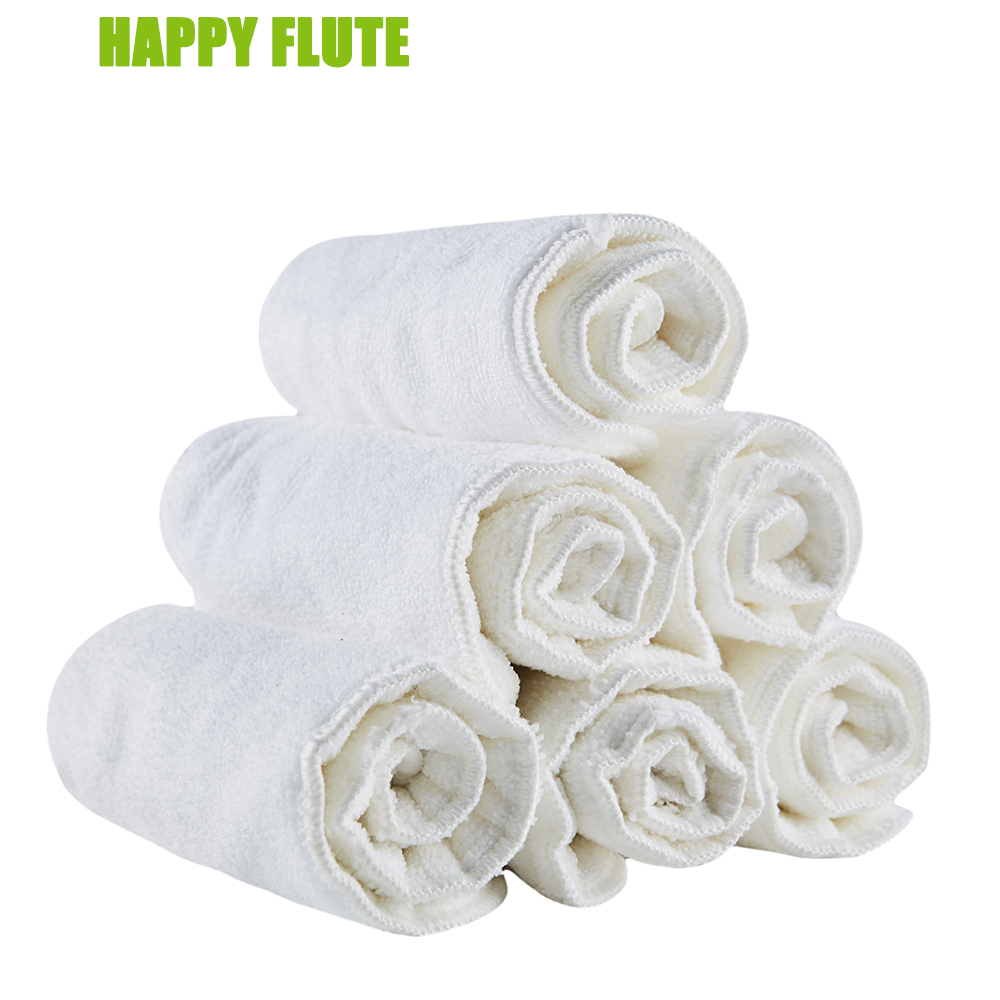 10pcs 100% Microfiber Insert,  2 And 3 Layers Washable Reuseable Baby Cloth Nappies, Suitable For All  Diaper Cover