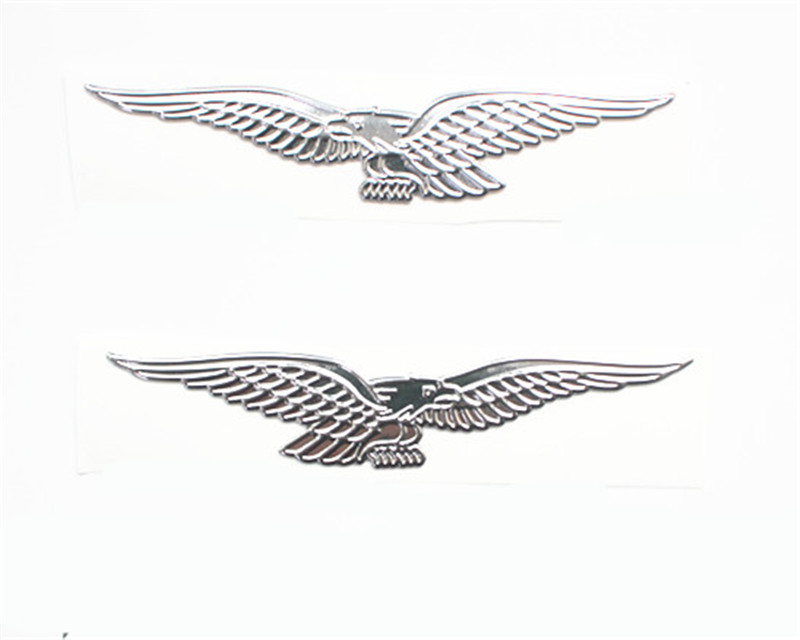 Silver 3D Sticker Decals Waterproof Motorcycle Eagle Sticker For Moto Guzzi