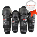4Pcs Motorcycle Protective Kneepad Jodilleras Protector Racing Motocros For KTM Kawasaki Safety Elbow Knee Guards Scoyco Black