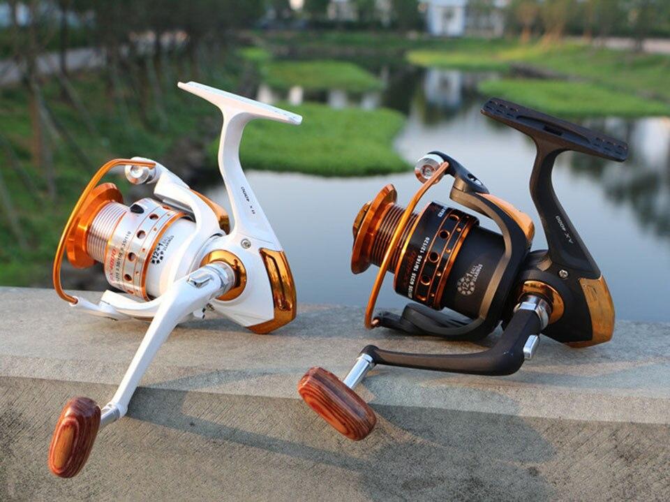 Spinning Fishing Reel 12BB + 1 Bearing Balls 500-9000 Series Metal Coil Spinning Reel Boat Rock Fishing Wheel 10