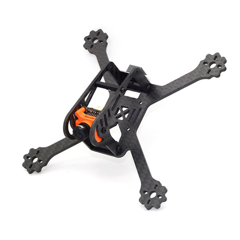 FlyFox No.5 135mm 3 Inch Carbon Fiber RC Drone FPV Racing Frame Kit 22g RC Models Multicopter Motor Prop DIY FPV Spare Parts original diatone gt200n fpv normal x racing frame kit carbon fiber supports 2306 motor hs1177 5 inch prop 200mm width
