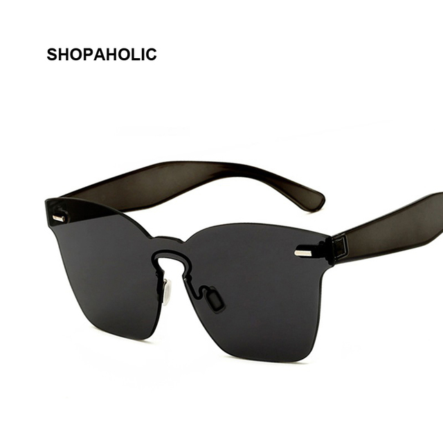46294228d69 Vintage Mirror Square Sunglasses Women Rimless Rivet Sun Glasses For Women  Transparent Lens Ladies Sunglasses Oculos