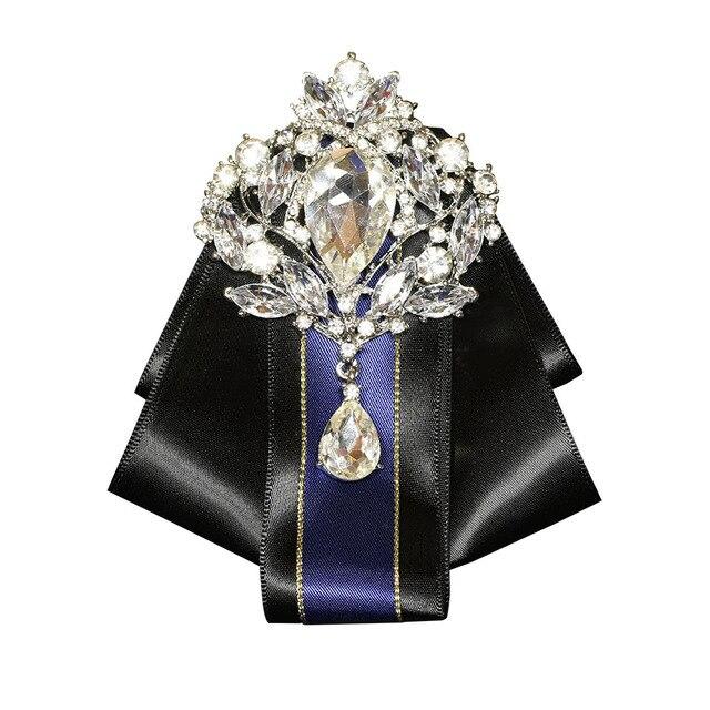 Я-Remiel британский стиль Винтаж многослойная большой алмаз галстук-бабочку для Для мужчин жених свадьба равномерное костюм рубашка Костюмы И Аксессуары