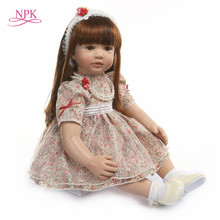 big size 60CM reborn toddler girl princess Handmade lol doll Silicone vinyl adorable Bonecas girl kid bebes reborn 6-9Msurprice(China)