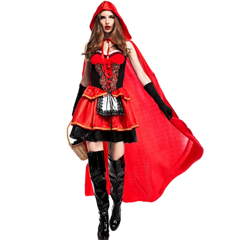High Quality Sexy Little Red Riding Hood Costume Party -1872