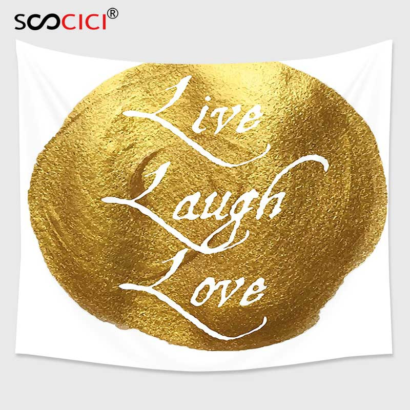 Fine Decor Black Wall Words Quotes Live Love Laugh Design Feature Wallpaper