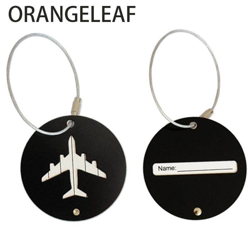 Aluminium Cirkel Bagage Labels Vliegtuig Vorm Gecontroleerd Instappen - Reisaccessoires - Foto 4