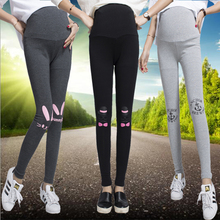 2017 Mouse cartoon rabbit Pregnant Maternity Leggings spring and winter long section cotton pants