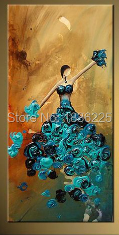Hand Painted Canvas Oil Paintings Dancer Ballet Dancing Abstract Painting On Home Decor Kids Room In Calligraphy