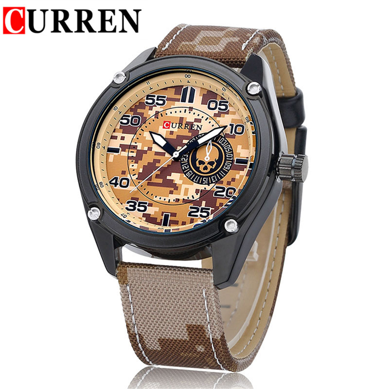 compare prices on mens camo watch online shopping buy low price curren 8183 camo male sports watch casual mens watches canvas analog wristwatch military army quartz watch
