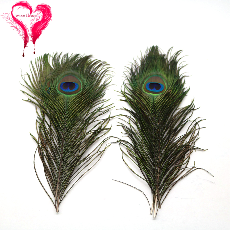 """50 Pcs PEACOCK TAILS Natural DARK BLEACHED Feathers 25/""""-30/"""" Crafts//Bridal//Hats"""