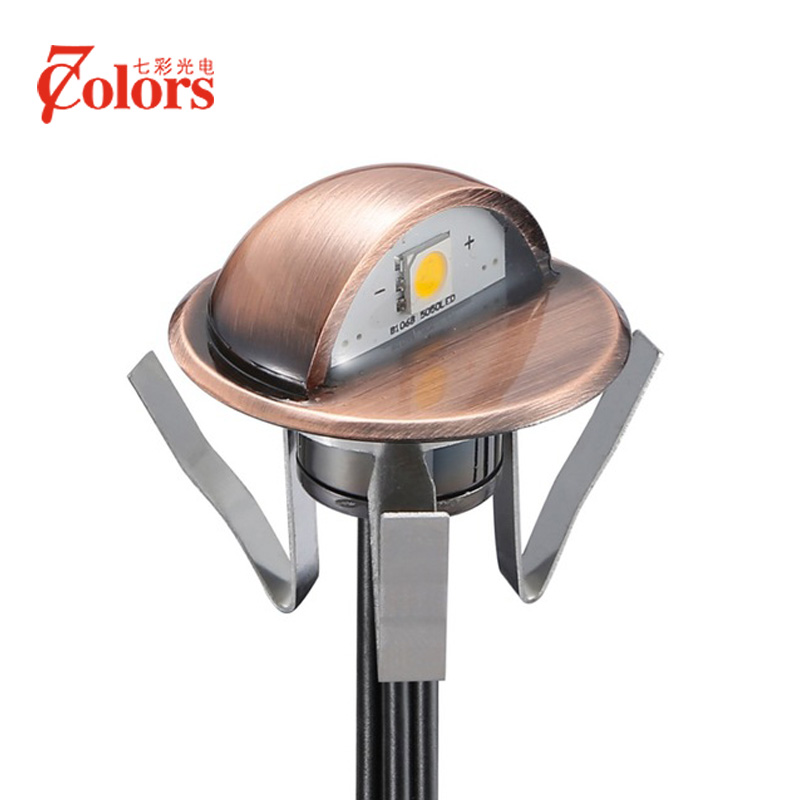 Half-moon Waterproof IP65 LED Underground Lamps Acero inoxidable Luz de escalera DC12V 0.4W SMD 5050 LED Iluminación de jardín