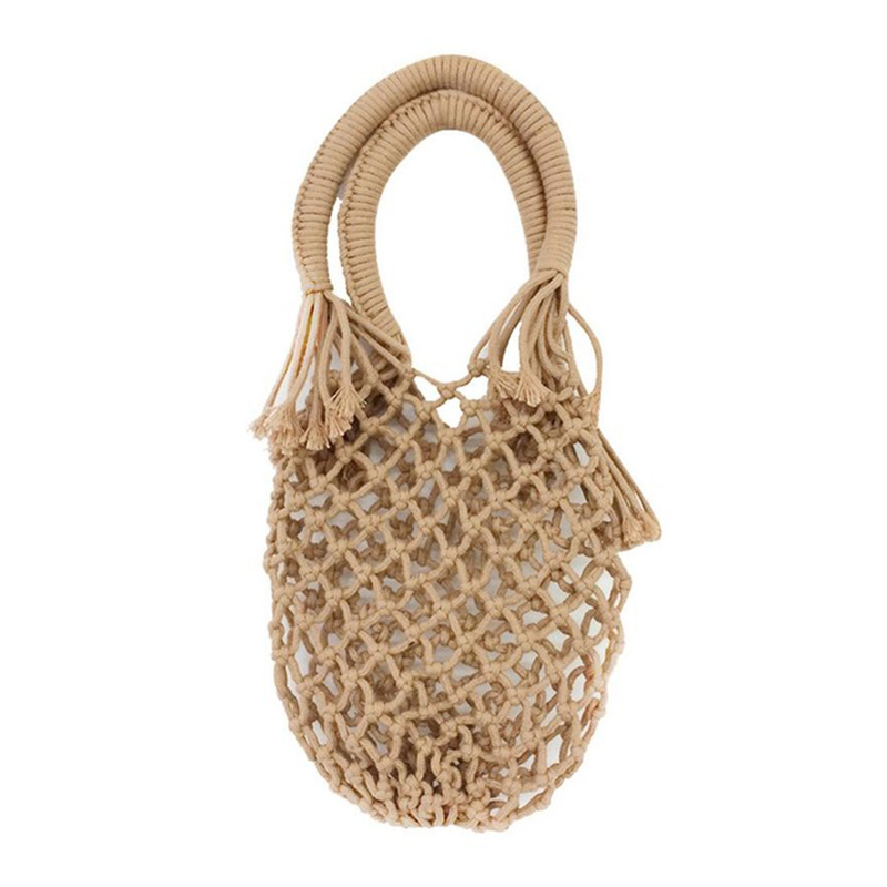 Women Bag Tote Hand-Woven-Bag Rattan Vacation Handmade Fashion Straw Pocket Braided New-New