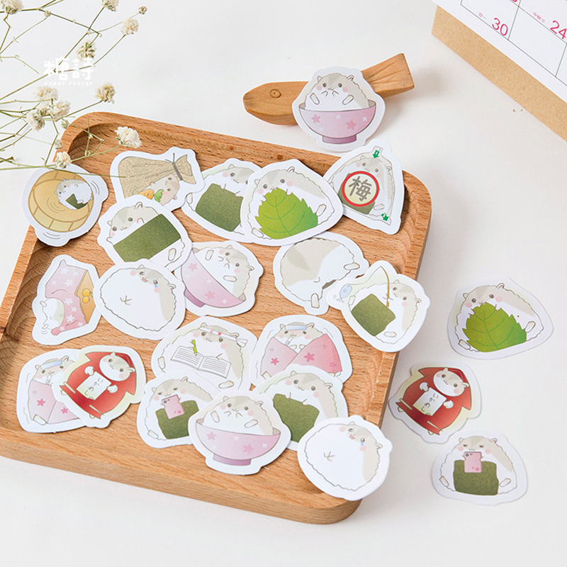 45pcs/lot Cute Hamster Mini Paper Sticker Decoration Diy Ablum Diary Scrapbooking Seal Stickers Kawaii Stationery School Supply