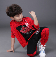 Spiderman Children Boys Clothing Set Baby Boy Spider Man Sports Suits Kids 3pcs Sets Vest T