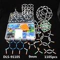 1105 шт. мм 9 мм большой набор Молекулярная модель комплект, органический неорганический Кристалл структура, химия обучающая модель для учите...