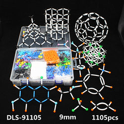 1105 Uds. 9mm juego grande de modelos moleculares, estructura de cristal inorgánico orgánico, modelo de enseñanza de química para profesores y estudiantes