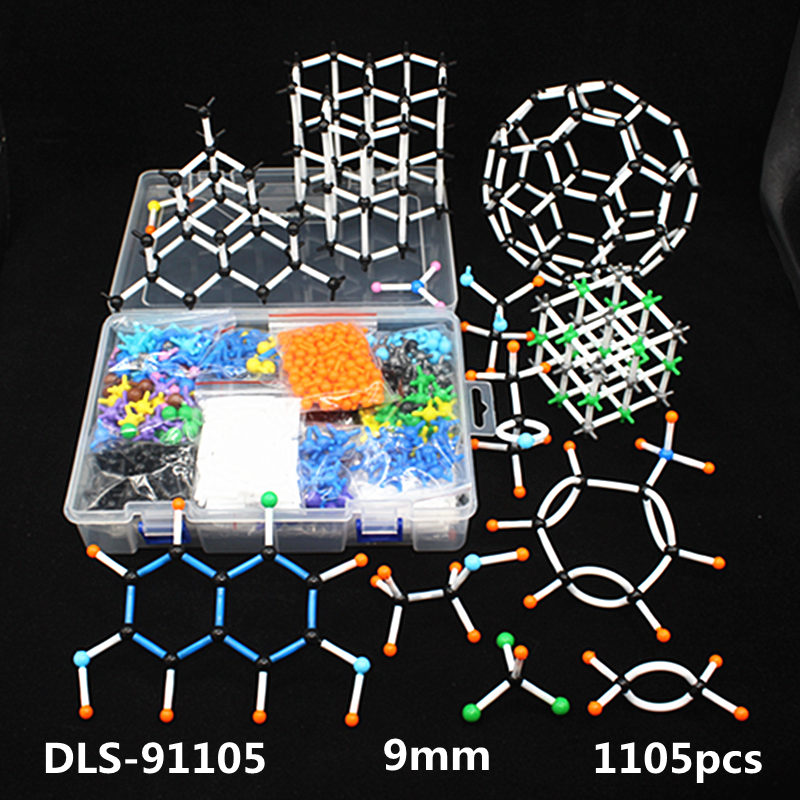 1105pcs 9mm large set Molecular Model Kit,organic Inorganic Crystal structure,Chemistry teaching model for teacher & students molecular model kit lz 23177 chemistry organic molecule structure models set student and teacher estuches school free shipping
