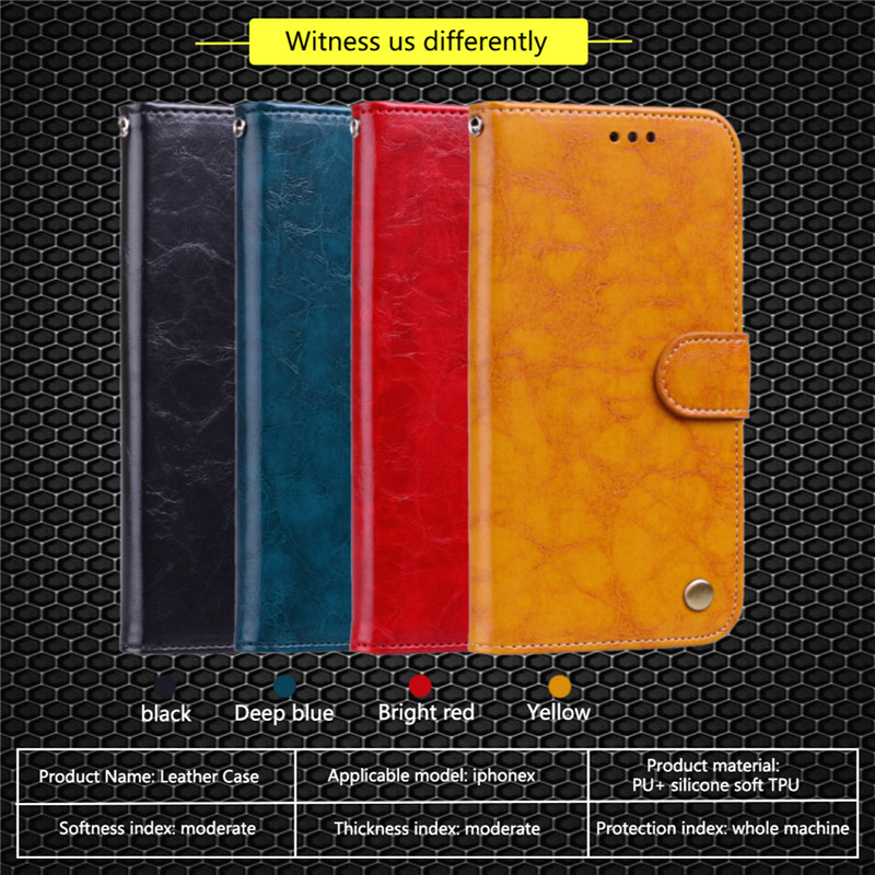 Flip Phone Case For iphoneX 6S 7 8 PLUS Case Smartphone Wallet PU Leather Phone Bag Cases For iphone6 6s 5 5s SE Cover 4.7 inch