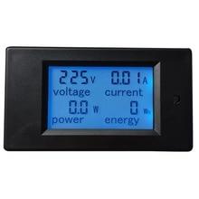 lcd digital volt watt power meter ammeter voltmeter ac 80 260v 20a 1PC AC 110-220V High Quality LCD Digital 20A Volt Watt Power Meter Ammeter Voltmeter New Arrival