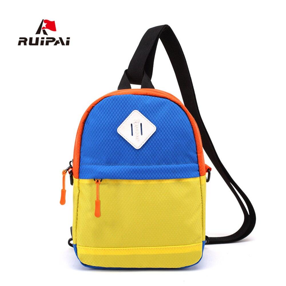 53efd7435494 RUIPAI маленьких детей школьные сумки Досуг bump цвет рюкзак мальчиков  девочек косой крест одно плечо Многоцелевой Путешествия рюкзак