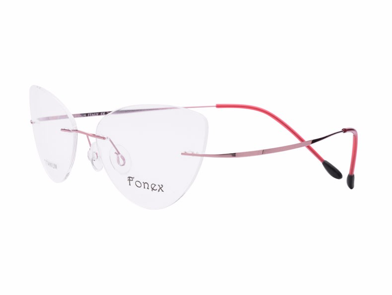 rimless women cat eye glasses silhouette fashion eyewear eyeglasses (7)