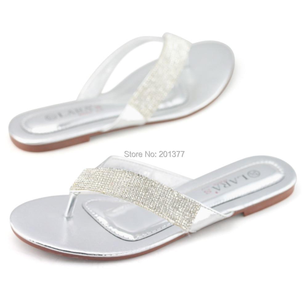 Jeweled Flip Flops Wedding