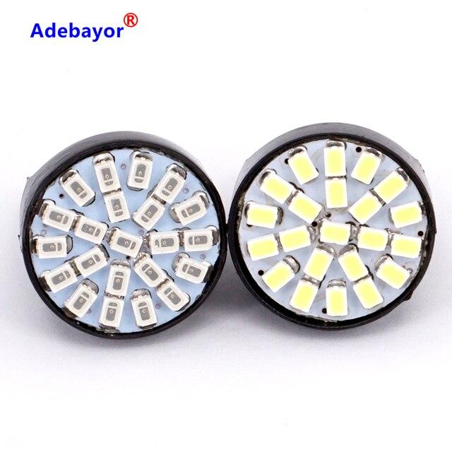 100X T20 7443 W21/5 W 22 1206 LED 3014 SMD araba reversing yedekleme lambası dönüş direksiyon yön göstergesi lamplet dur fren işık