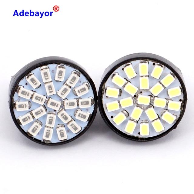100X T20 7443 W21/5 W 22 1206 LED 3014 SMD רכב היפוך גיבוי מנורת תור היגוי כיוון מחוון lamplet להפסיק בלם אור
