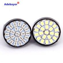 100X T20 7443 W21/5W 22 1206 LED 3014 SMD car reversing backup lamp turn steering direction indicator lamplet stop brake light