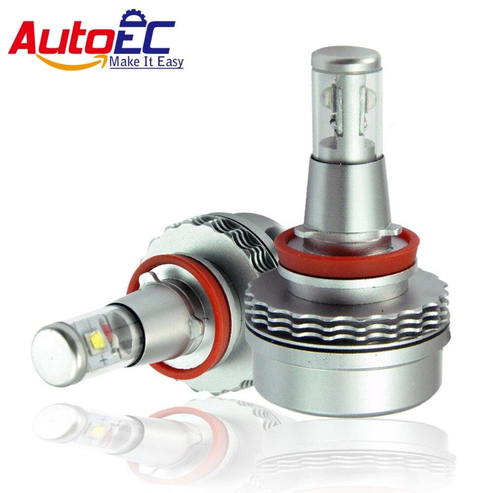 AutoEC H8 30 W LED antibrouillard pour Accord 2013 super lumineux 6000 K DC10V-30V # TD005