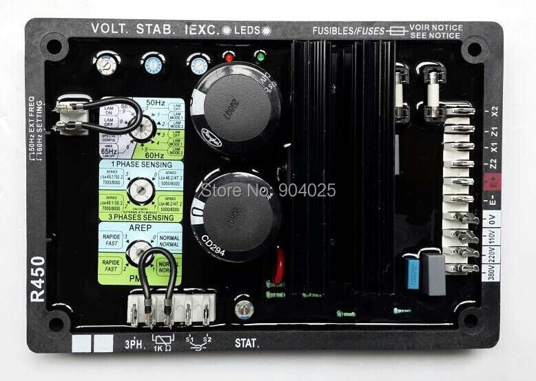 LeroySomer AVR R450 инспекционный контроллер leroy somer Генератор AVR Регулятор R450