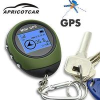 APRICOTCAR Mini GPS Positioning Tracker Handheld Portable Keychain Travel Satellite Locator Outdoor Adventure Vehicle Pathfinder
