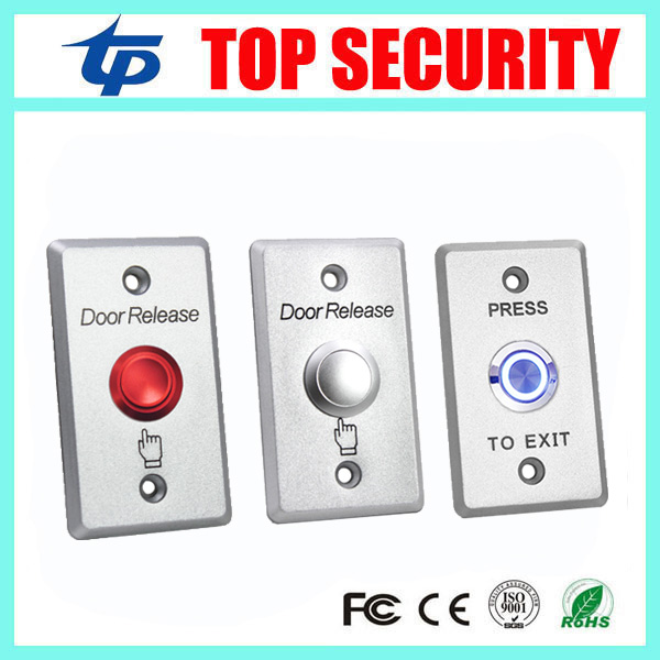 Access Control Exit Button Zinc Alloy Exit Switch Door Release Push Exit Door Opener Door Lock System Push Exit Button lpsecurity stainless steel door access control led backlit led illuminated push button door lock release exit button switch