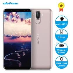 Ulefone power 3 S 4G Смартфон Android 7,1 6,0 дюймов Восьмиядерный 4 Гб ОЗУ 64 Гб ПЗУ Quad камеры type-C Лицо ID мобильный телефон