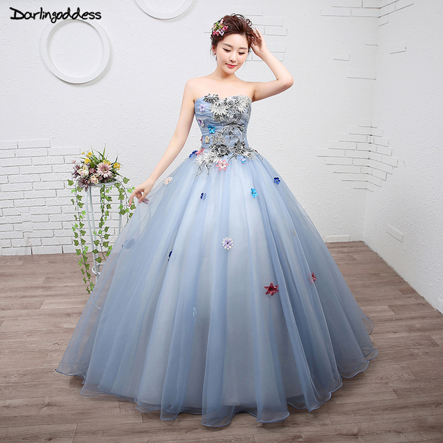 19f78bd594 Vestido De Quinceanera 2018 Strapless Ball Gown Quinceanera Dresses Lace Up  Flowers Sweet 16 Dresses Debutante Gowns Plus Size