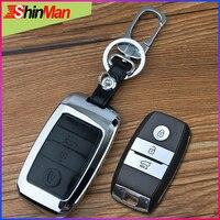 ShinMan Zinc alloy Car Remote Key CAR key Cover Case key shell For KIA Sportage Sportage R KX3 Sorento Forte SOUL K2 K3 K4 K5