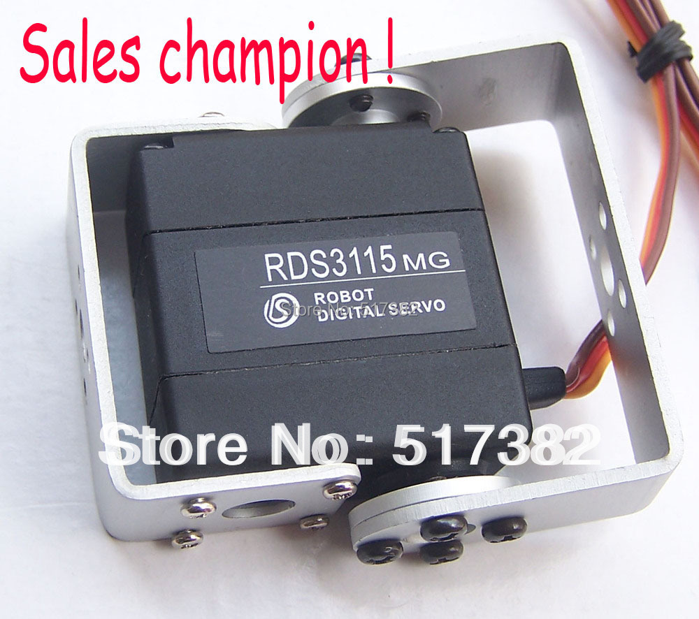 Free shipping 4X Original factory Robot servo RDS3115 Metal gear digital servo Robot servo arduino servo for Robotic DIY 15kg/cm 1x free shipment original factory high torque servo 15kg ds3115 servo metal gear digital standard servo for rc car boat plane