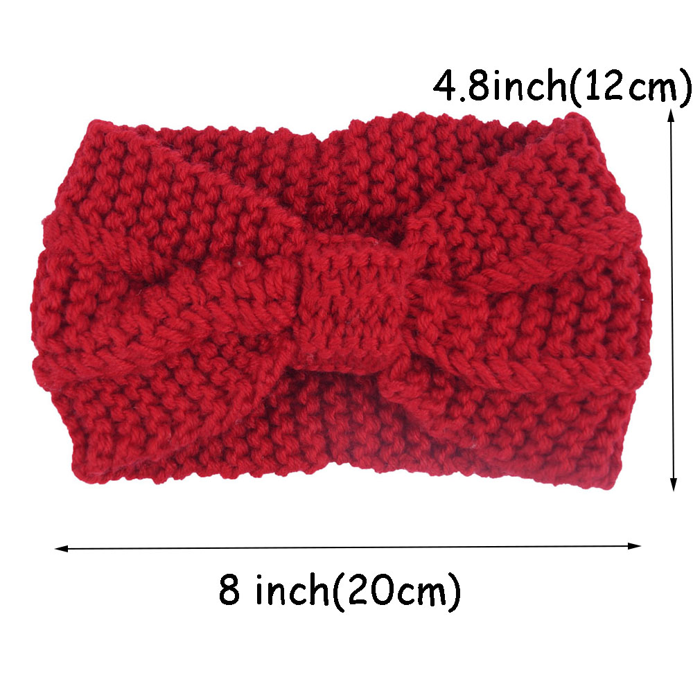 f258e31a1494 Γυναίκες   s αξεσουάρ για τα μαλλιά Winter New Fashion Solid Wool Warm  Crochet Bow Headband For Lady Women Head Bands Knitting Headwraps Hair  Accessories