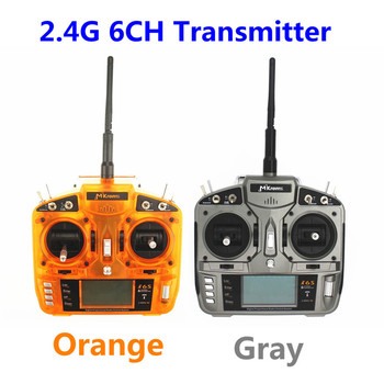 DSM2 Radio MKron 2.4GHz 6CH I6S RC Transmitter W/10 Model Memory and 3-Pos Switch W/S603 Receiver Compatible for DX6i JR FUTABA