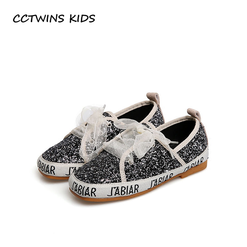 CCTWINS KIDS 2018 Spring Girl Fashion Glitter Lace-Up Toddler Brand Pu Leather Shoe Baby Sequins Flat Espadrille Children G1684 cctwins kids 2018 girl fashion gladiator sandal children pu leather flat shoe toddler brand barefoot sandal baby bg006