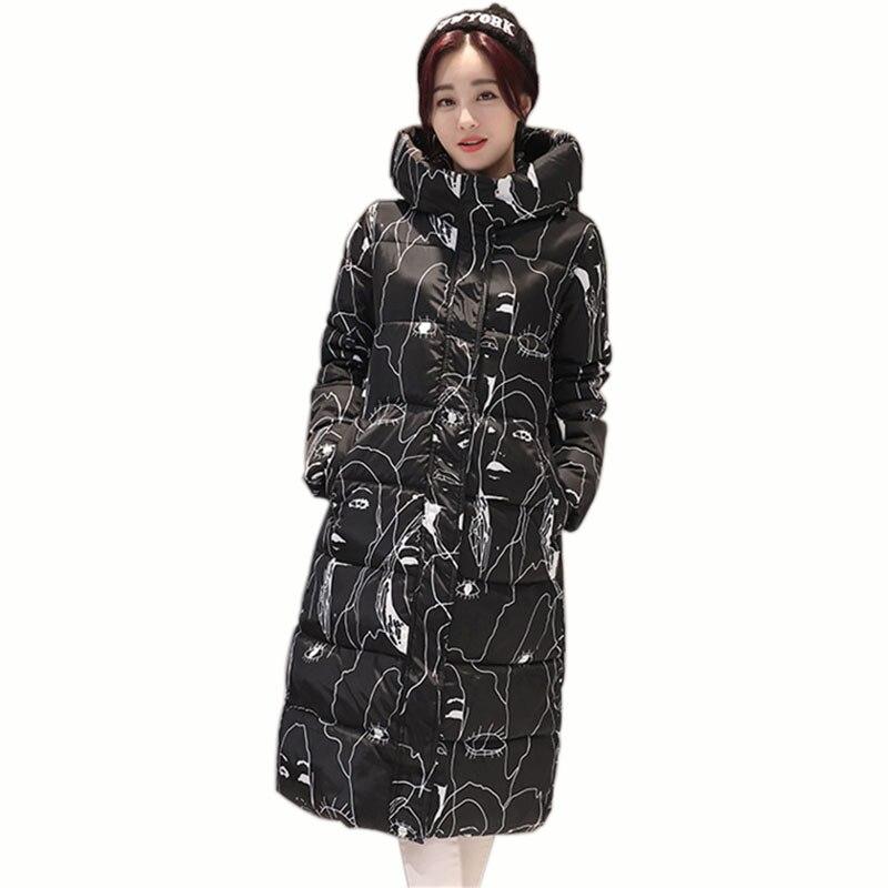 e2f61520018 Elegant Women Down Coat Winter Thick Warm Elegant 2017 New Long Down Coat  Fashion Female Slim Wadded Jacket Duck Parkas Jacket