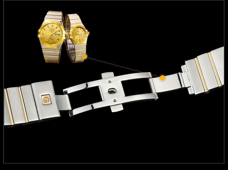 GUANQIN Gold Couple Watches Men Automatic Mechanical Watch Women Quartz Watch Luxury Lover Watch Waterproof Fashion Wristwatches (17)