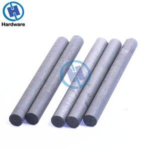 Image 3 - 5pcs Black Carbon Rod 99.99% Graphite Electrode Cylinder Rods Bars 100x10mm For Industry Tools